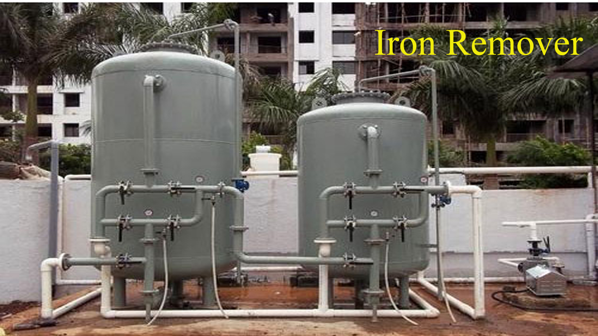 water treatment for iron removal filter
